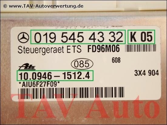 Ets Control Unit Mercedes Benz A K Ate B