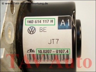 ABS/MABS Hydraulikblock VW 1K0614117H 1K0907379P Ate 10.0207-0107.4 10.0970-0315.3