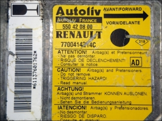 Air Bag control unit 7700-414-214-C AD Autoliv 550-42-08-00 Renault Clio
