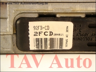 Motor-Steuergeraet Ford 92FB-12A650-CD 2FCD SMO-270 EEC-IV 6773767