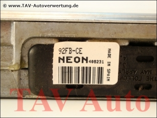 Motor-Steuergeraet Ford 92FB-12A650-CE NEON SMO-270 EEC-IV 7225398