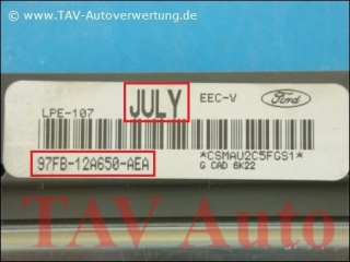 Motor-Steuergeraet Ford 97FB-12A650-AEA JULY LPE-107 EEC-V